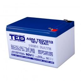 TEDBATERIE AGM TED1213HRF2 12V 13Ah HIGH RATE