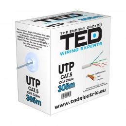 TEDCABLU UTP CATEGORIA 5E 2 x 4 FIRE CCA TED DZ085417 TED ELECTRIC
