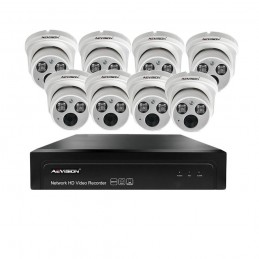 AEVISIONSistem supraveghere video IP 8 camere dome 30m 1080P Aevision