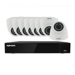 EyecamSistem supraveghere video 8 camere dome 5MP 20M