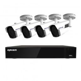 EyecamSistem supraveghere video 4 camere 5MP 40M