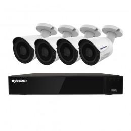 EyecamSistem supraveghere video 4 camere 5MP 20M